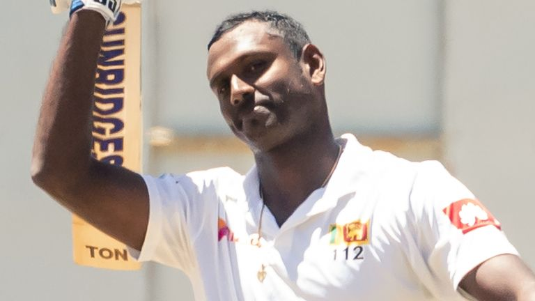 Angelo Mathews' 135 has left England facing a fight to save the second Virtual Test against Sri Lanka