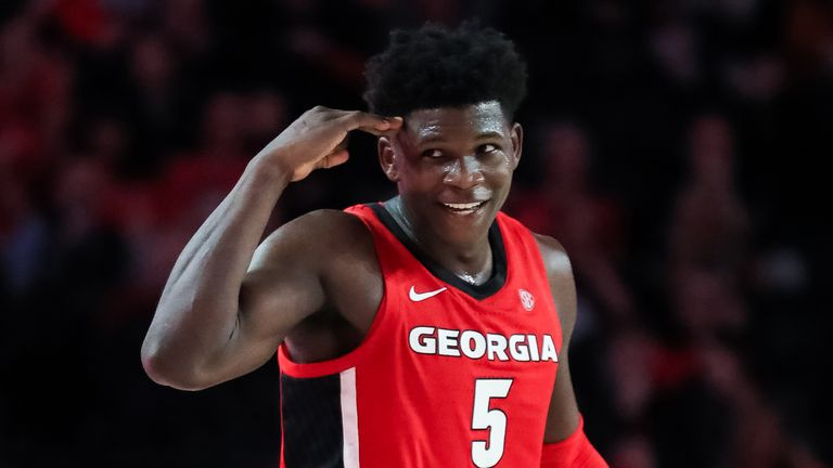 Anthony Edwards in action for the Georgia Bulldogs