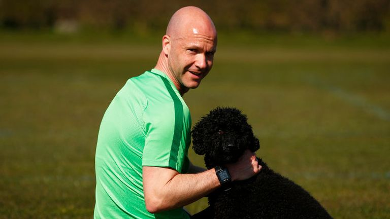 Anthony Taylor is training at home during coronavirus pandemic