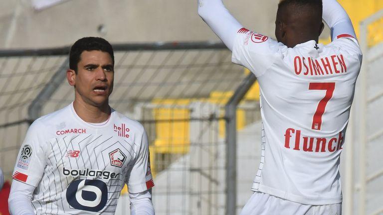 Benjamin Andre (left) netted the winner for Lille