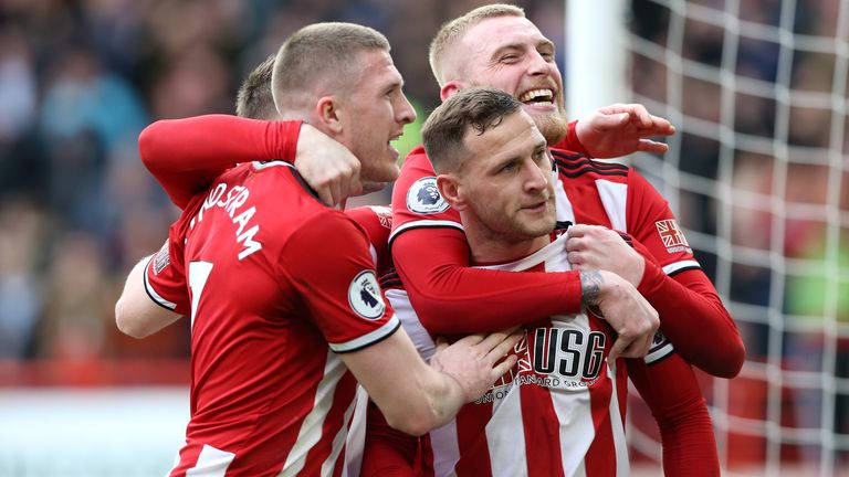 Sheffield United remain in contention for a Champions League place