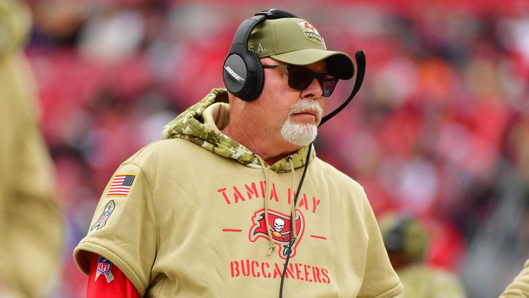 Bucs head coach Bruce Arians is a two-time NFL Coach of the Year winner