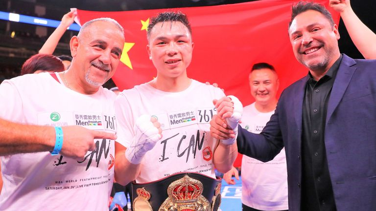 China's Can Xu had accepted terms for a unification clash with Warrington