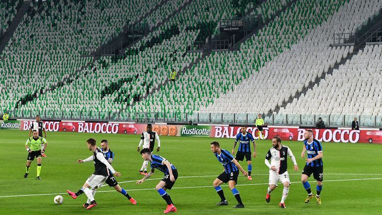 Juventus and Inter played one of the last Serie A games before the season was halted due to the coronavirus pandemic