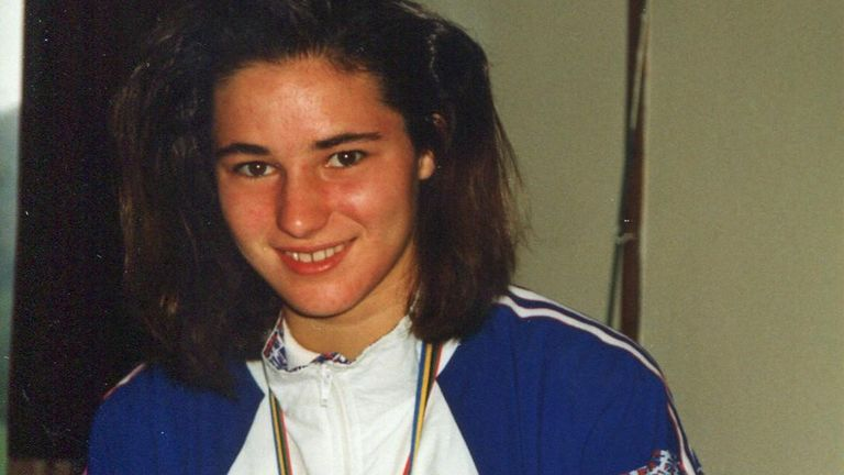 As a 14-year-old swimmer, Storey won two Paralympic Games gold medals, three silvers and a bronze at Barcelona in 1992