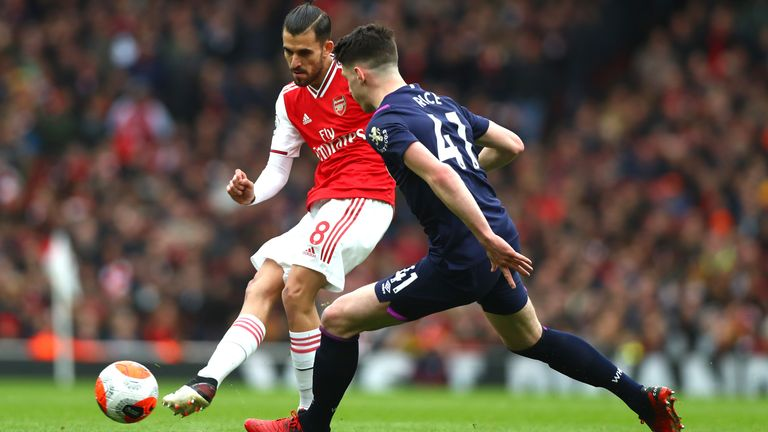 Dani Ceballos made 86 successful passes against West Ham - the most of any player on the pitch
