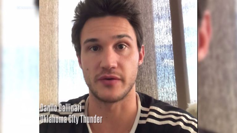 Danilo Gallinari urges NBA fans to follow WHO guidelines concerning the coronavirus pandemic