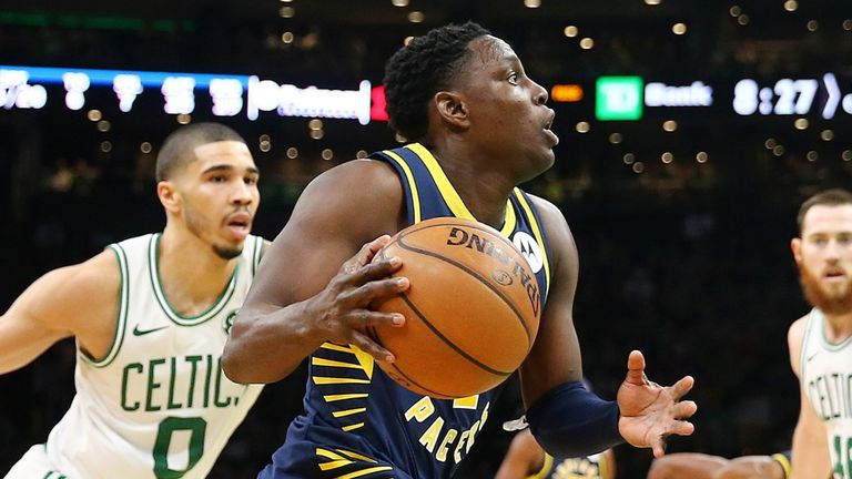 Darren Collison of the Indiana Pacers in action against the Boston Celtics during the 2019 NBA Playoffs