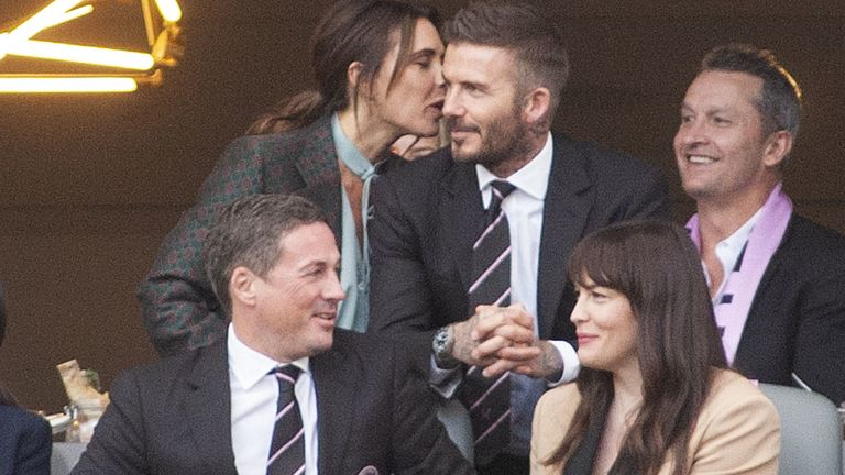 Beckhams and Liv Tyler