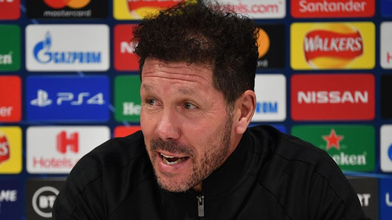 Atletico Madrid boss Diego Simeone says Liverpool will know what to expect when the two sides meet on Wednesday evening