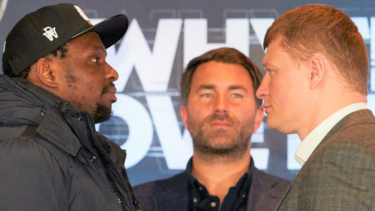 Dillian Whyte is set to face Alexander Povetkin in Manchester on May 2