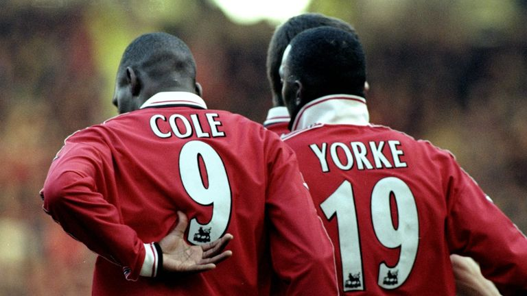 Dwight Yorke and Andy Cole formed a formidable strike partnership at Manchester United