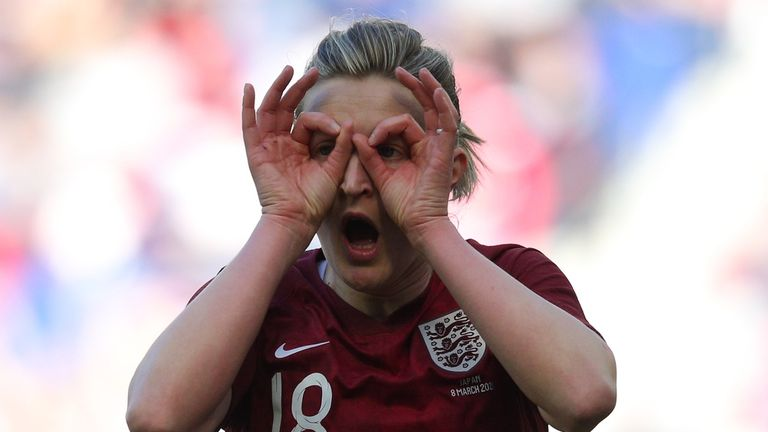 Ellen White's 36th goal for England settled the game in New Jersey