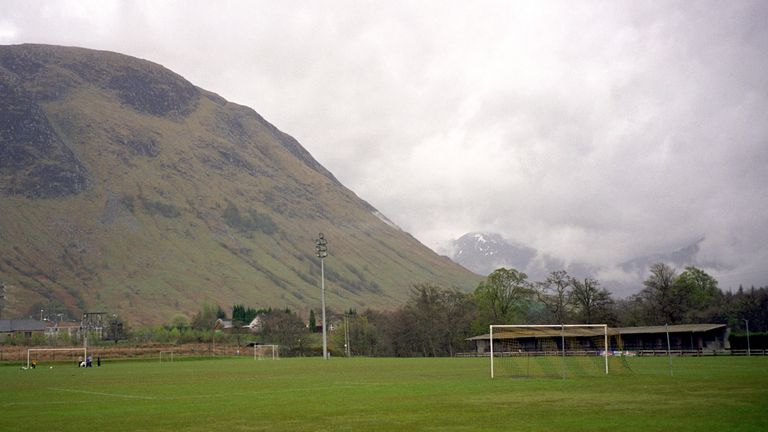 General view of Claggan Park, home of Fort William F.C.