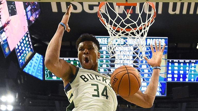 Giannis Antetokounmpo from the Milwaukee Bucks.