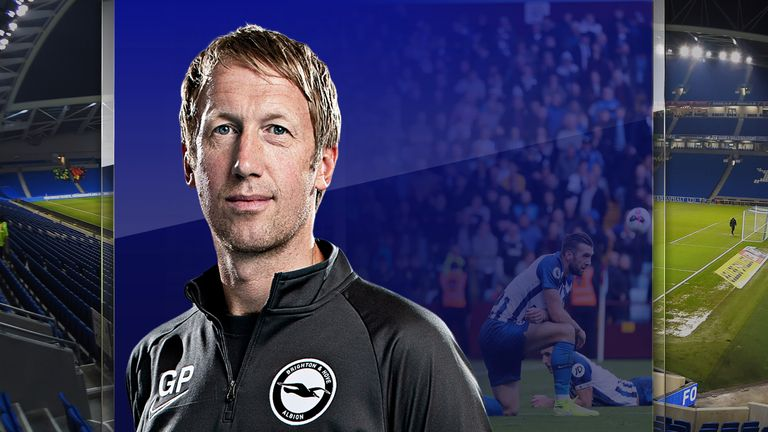Brighton boss Graham Potter is now facing a relegation battle