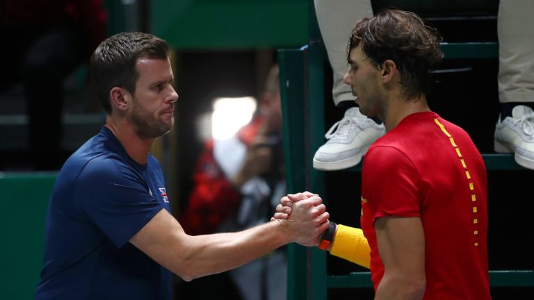 Spain beat Great Britain in last year's Davis Cup semi-finals