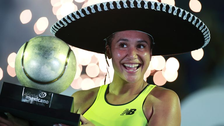 Watson won the fourth WTA title of her career at the Mexican Open in March