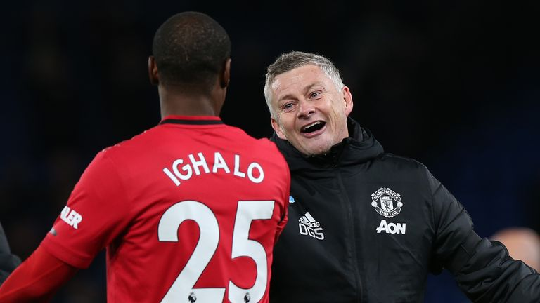 Solskjaer has remained positive a deal can be done to keep Ighalo at Old Trafford