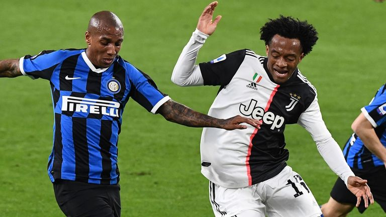 Juventus beat Inter Milan 2-0 on Sunday to solidify their spot at the top of Serie A