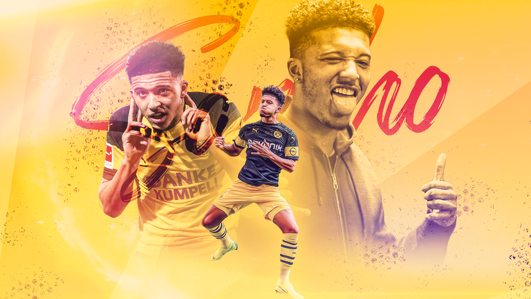 Jadon Sancho has thrived since joining Borussia Dortmund