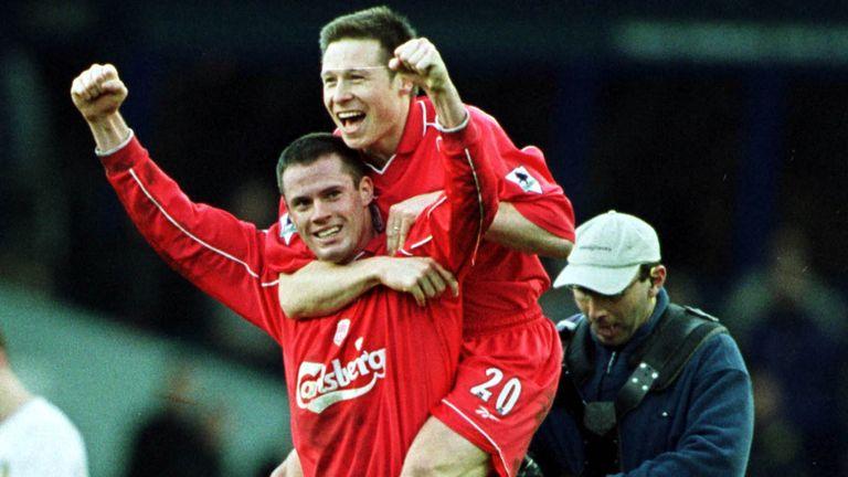 Jamie Carragher  Nicky Barmby Liverpool