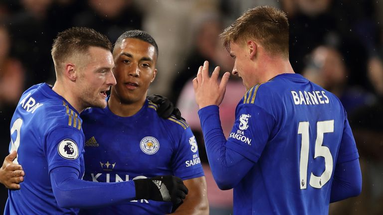 Leicester continued their march to the Champions League with a 4-0 win over Aston Villa