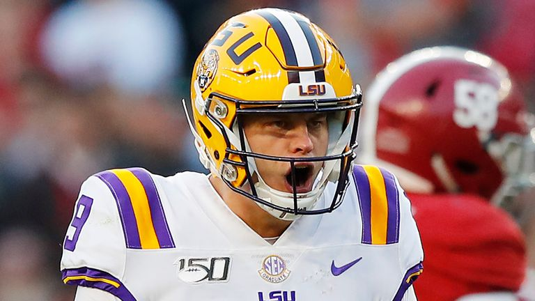 LSU quarterback Joe Burrow is expected to the No. 1 overall pick