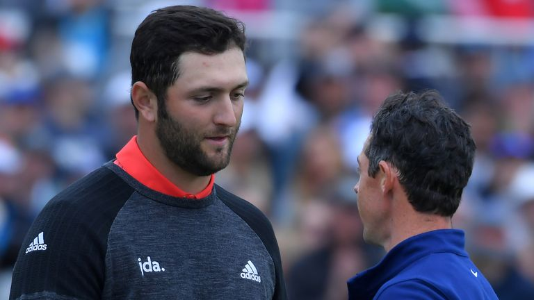 Rory McIlroy and Jon Rahm are currently the top two in the world rankings