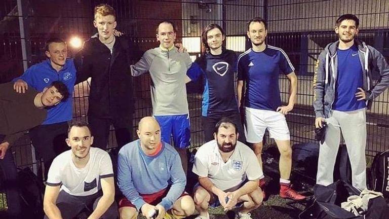Soho FC training - Austen Rigby, JP Casey