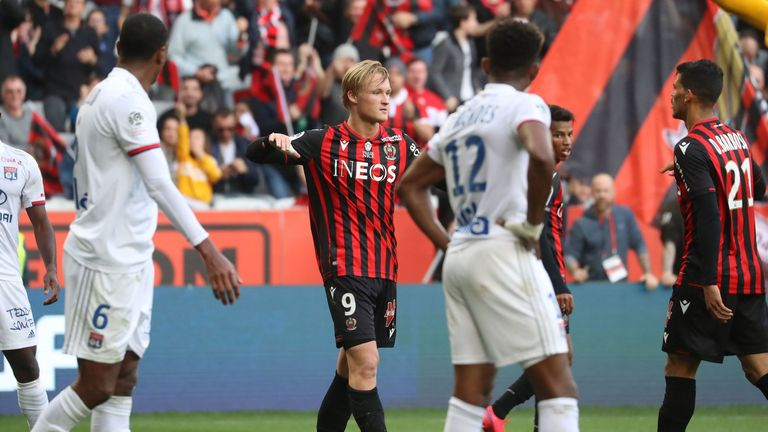 Nice are six points off third-placed Nice after their late win
