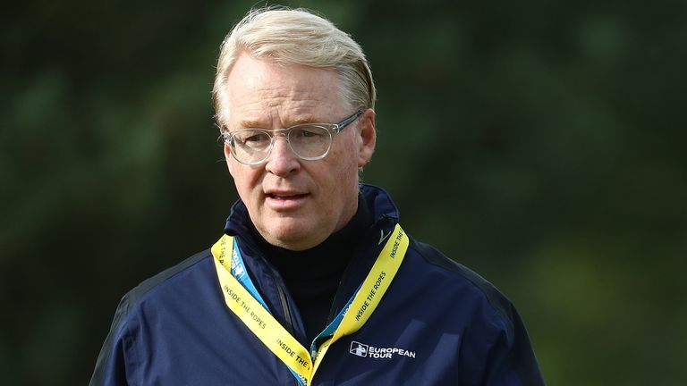 Keith Pelley confirmed the new UK Swing will restart action on the European Tour