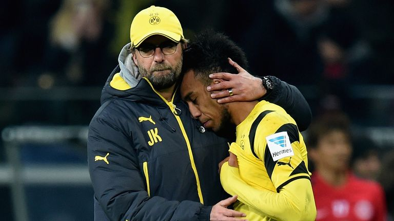 Jurgen Klopp managed Aubameyang at Borussia Dortmund