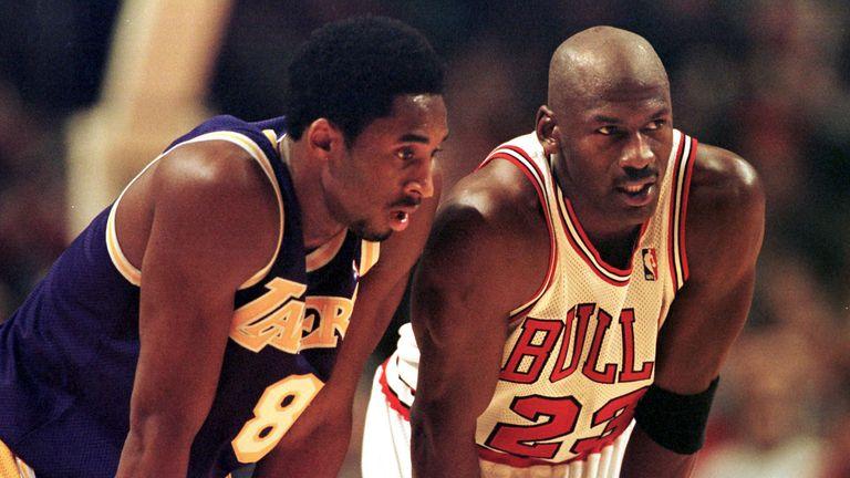 Kobe Bryant lines up against Michael Jordan