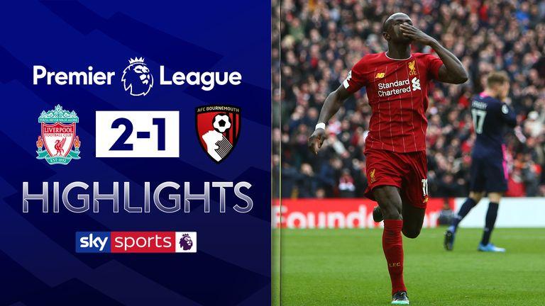 Liverpool v Bournemouth highlights