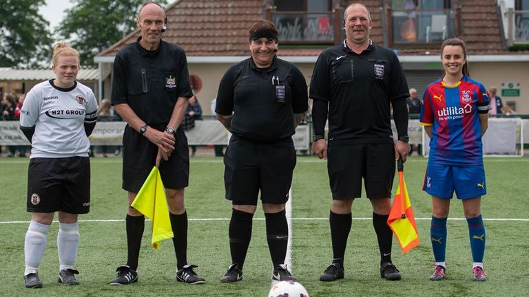 Lucy Clark, Iain Bryant, referees