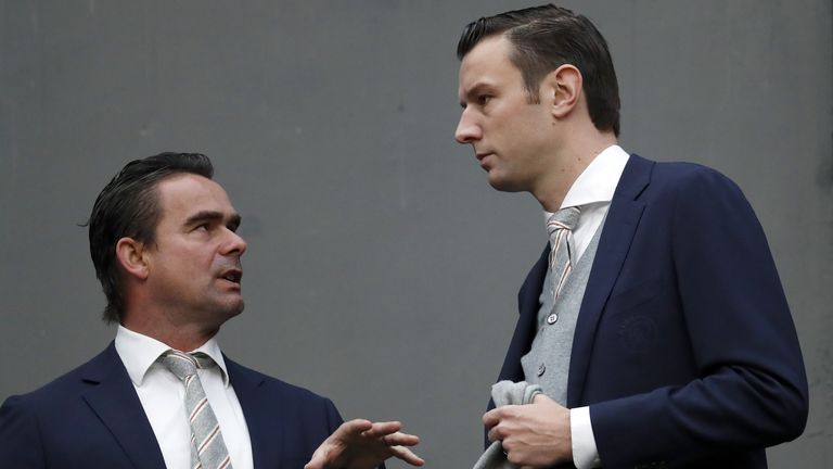 Ajax director of football Marc Overmars and commercial director Menno Geelen