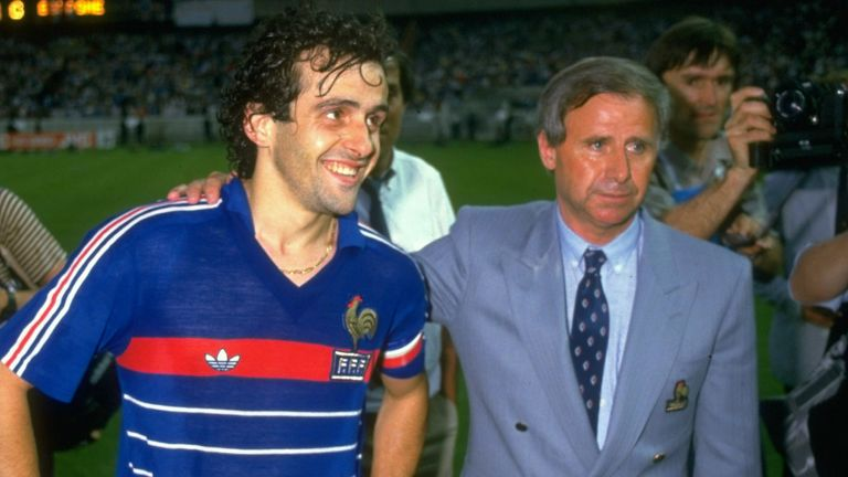 Michel Hidalgo (right) was in charge of France's Euro 1984 triumph
