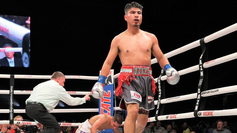 Garcia dropped Vargas with a right hand in the fifth round