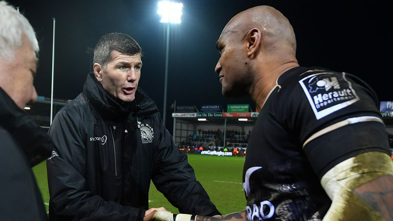 The back still recalls a conversation with Rob Baxter about off-field issues prior to his Exeter exit