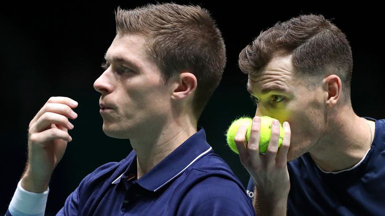 Skupski (L) was packed and ready to fly to Indian Wells when the tournament was cancelled