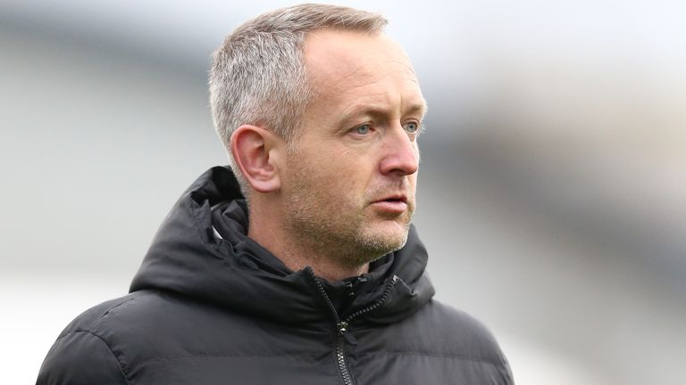 Neil Critchley, manager of Liverpool U23s looks on during the Premier League International Cup match between Liverpool FC U23 and Paris Saint-Germain U23 at The Academy on December 20, 2019 in Liverpool, England