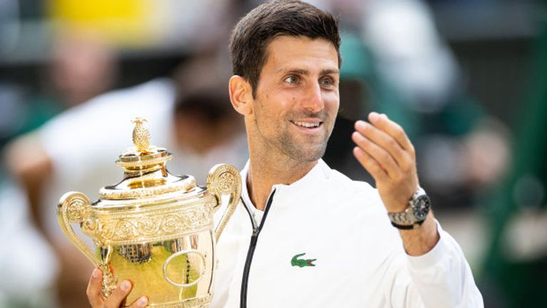 Novak Djokovic will be hoping to defending his men's singles title this summer