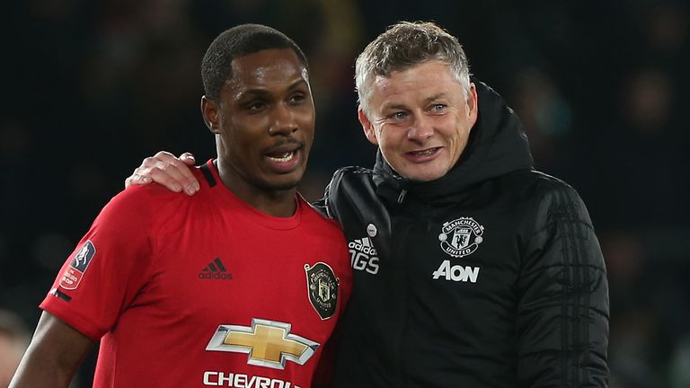 Odion Ighalo with Ole Gunnar Solskjaer