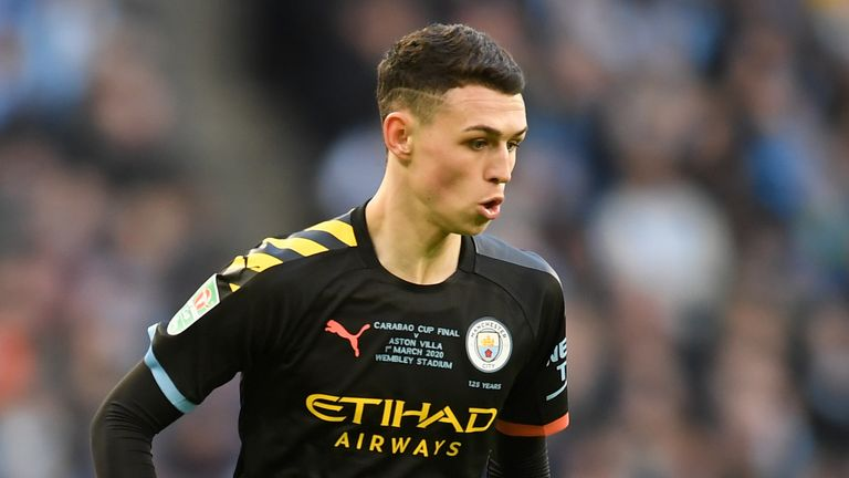 Phil Foden was man of the match for Manchester City in their Carabao Cup final win over Aston Villa