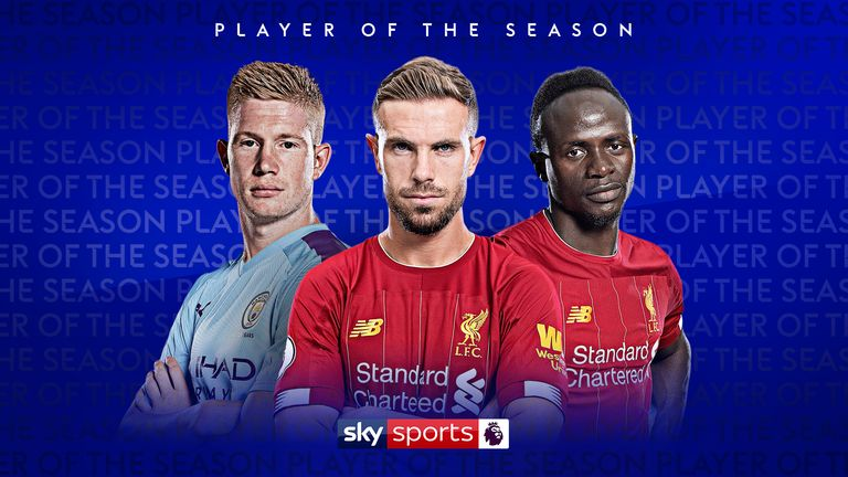 who is premier league player of the season 2019 20 football news sky sports we take a look at the best bits of three of the contenders for the premier league player of the season award liverpool s sadio mane jordan henderson and manchester city s kevin de bruyne