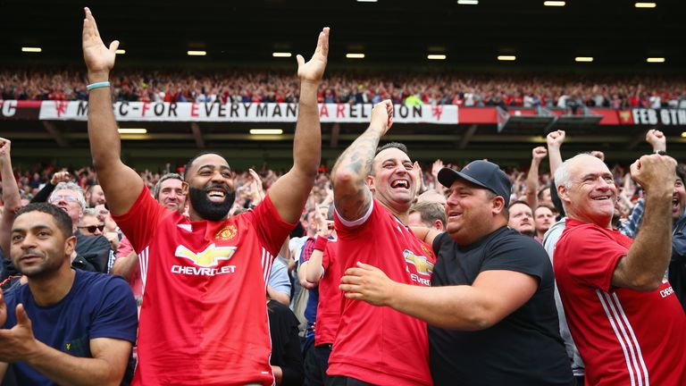 during the Premier League match between Manchester United and West Ham United at Old Trafford on August 13, 2017 in Manchester, England..........