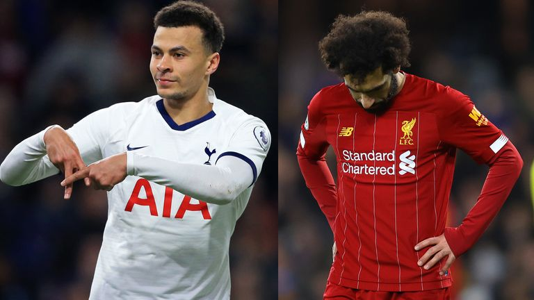 Tottenham's Dele Alli (left) and Liverpool's Mohamed Salah would likely react very differently to a Premier League season cancellation