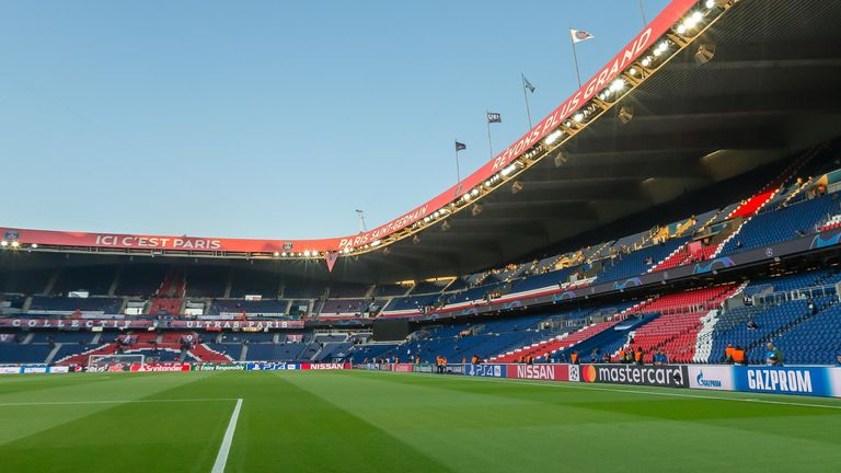 PSG vs Dortmund at the Parc des Princes will be played behind closed doors on Wednesday