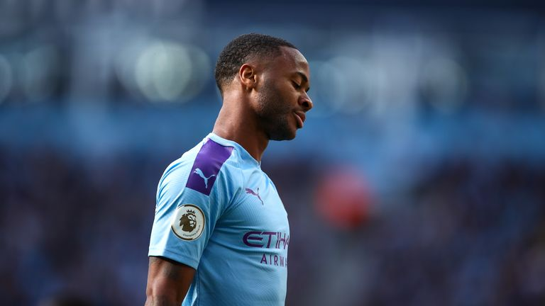 Sterling cuts a dejected figure after VAR rules out Manchester City's late winner against Spurs in August